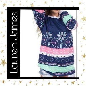 New!  Lauren James Navy Sweater L/S Tee M L XL
